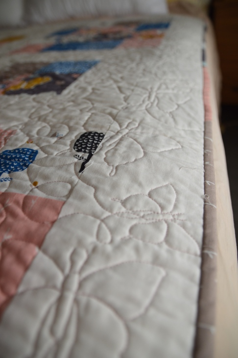 September Blue quilt binding